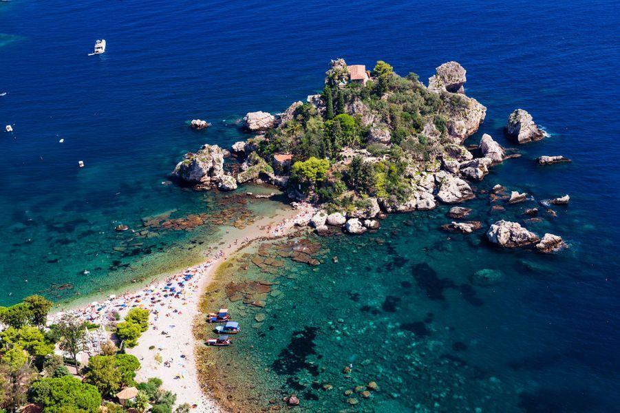 La plage d'Isola Bella