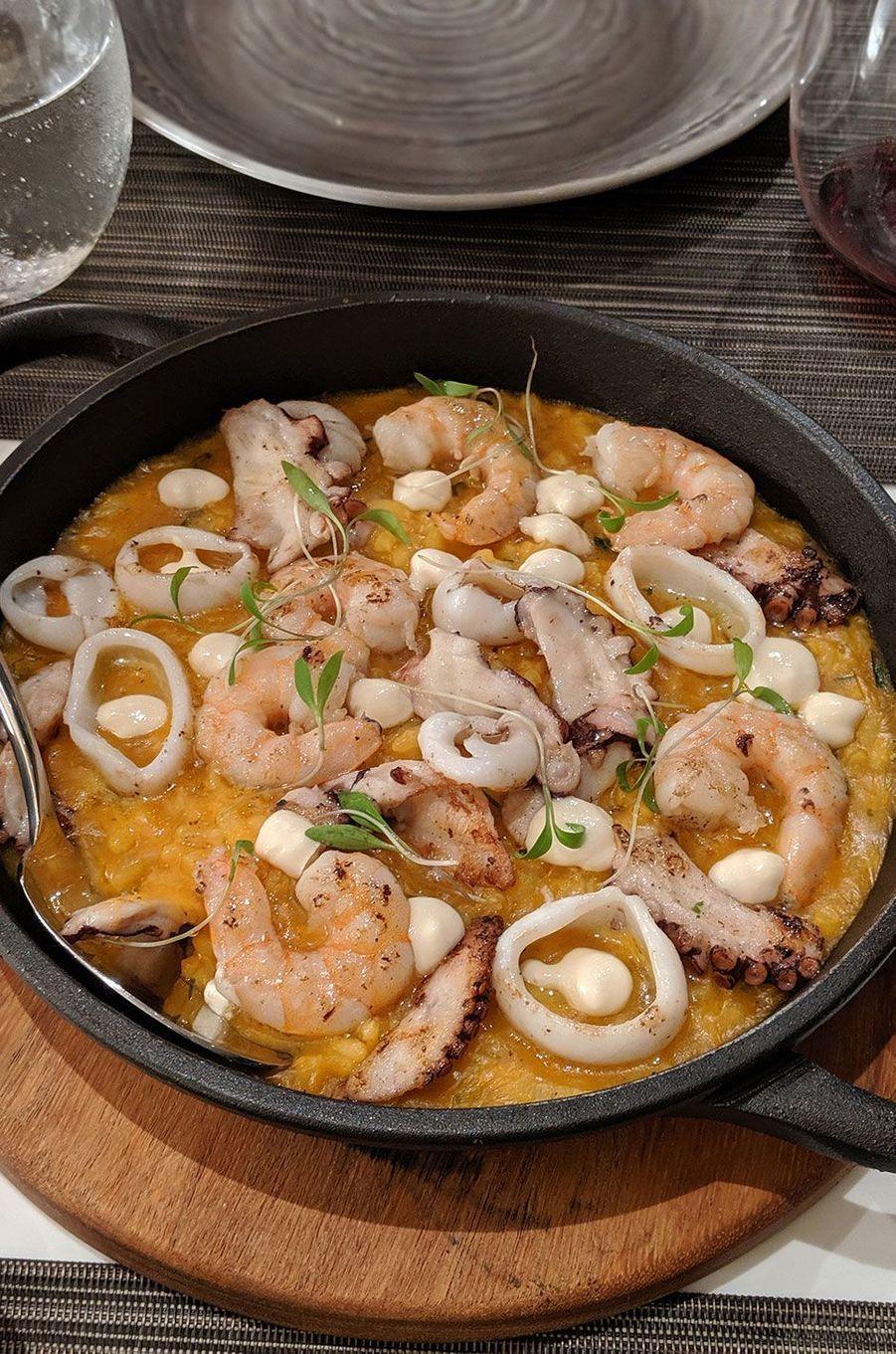 La soupe de crevettes (sopa de camarones).