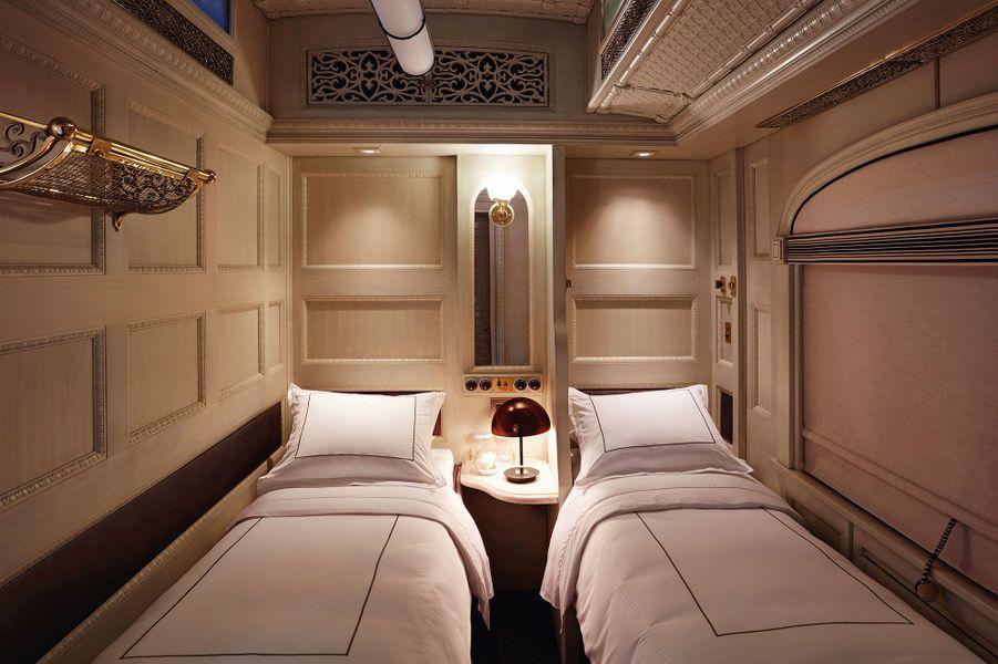 Les couchettes du train Belmond.