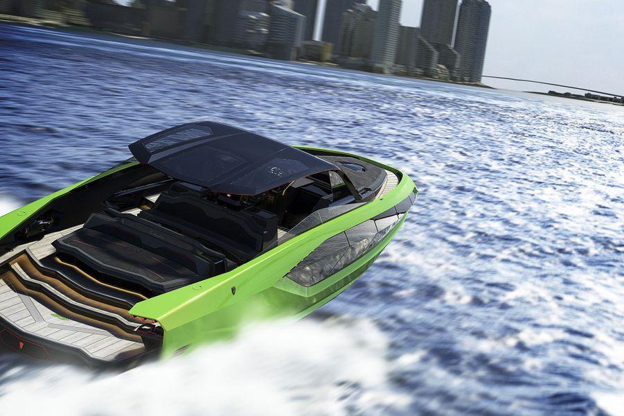 """Le yacht """"Tecnomar pour Lamborghini 63"""" sera disponible début 2021 pour environ 3 millions d'euros."""