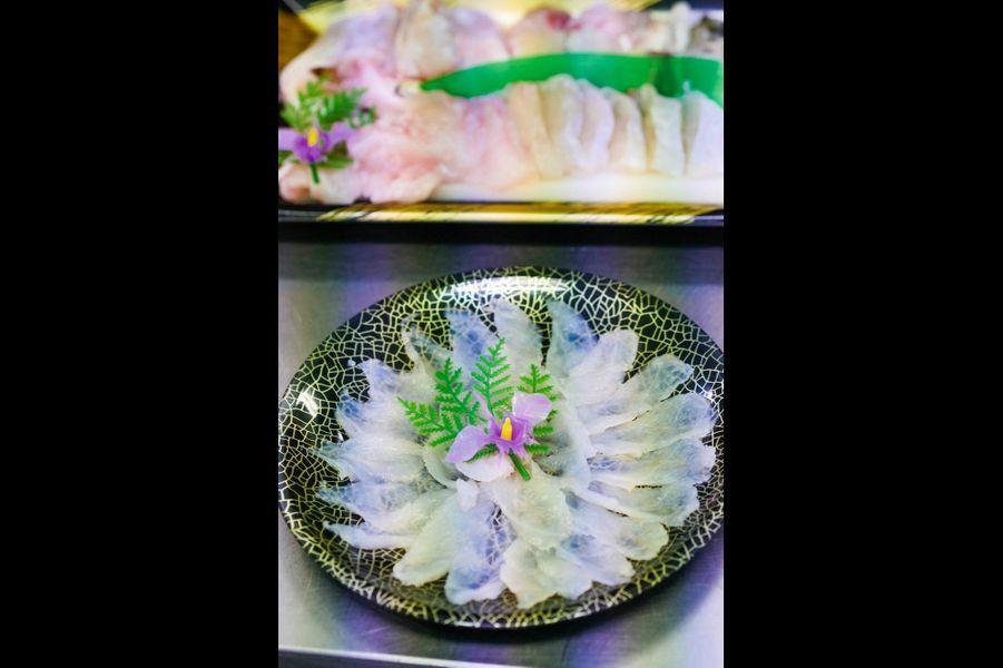 Les tranches nacrées de fugu