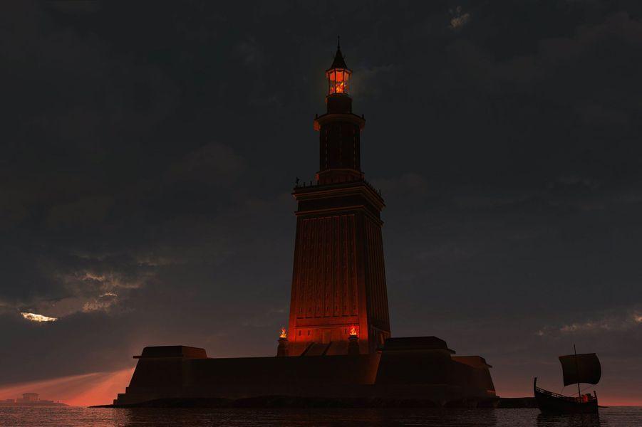 Ce à quoi le phare d'Alexandrie (Égypte) pouvait ressembler.