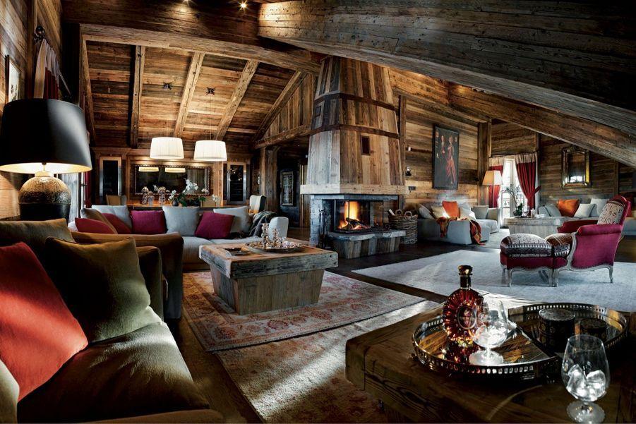 L'immense salon-séjour de l'Ormello.