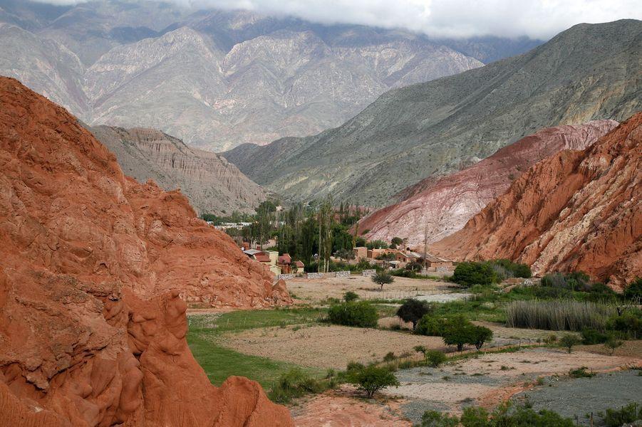 Le site d'Quebrada de Humahuaca, Argentine.