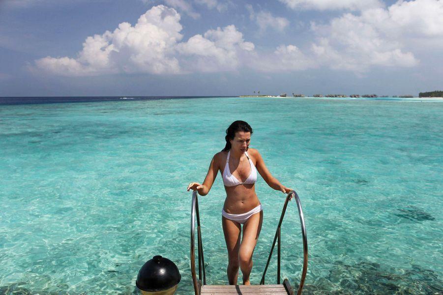 L'atoll Malé du Nord, Maldives.
