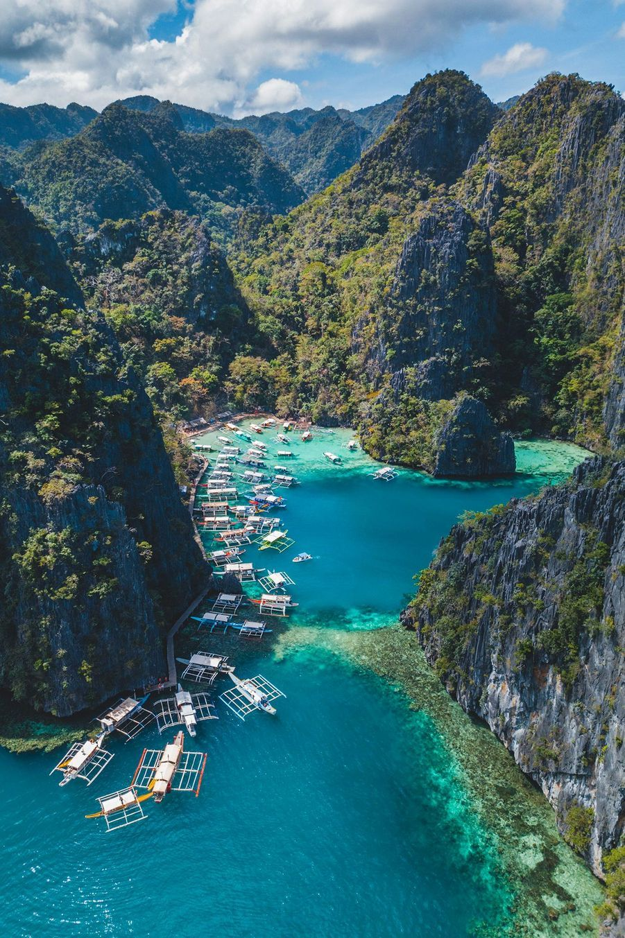 La baie de Coron, Philippines.