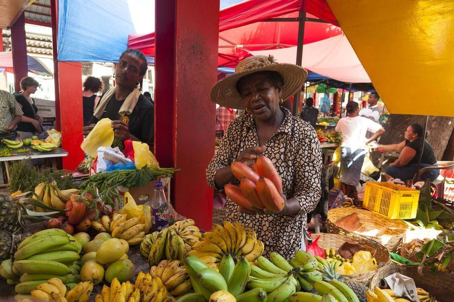 Marché dans la capitale des Seychelles, Victoria.