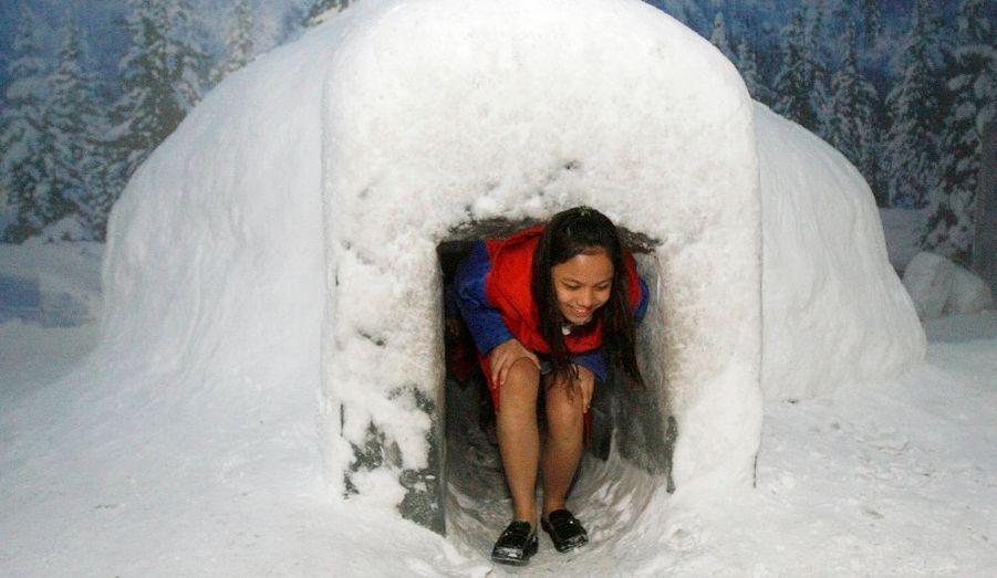 Parc Snow World à Manille aux Philippines