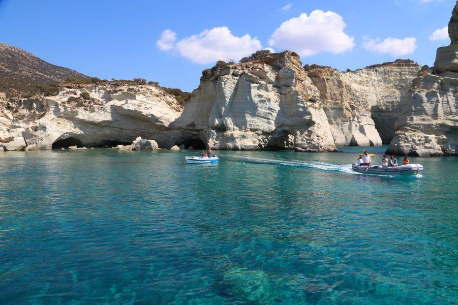 8.Kleftiko Beach, Milos, Iles des Cyclades (Grèce)