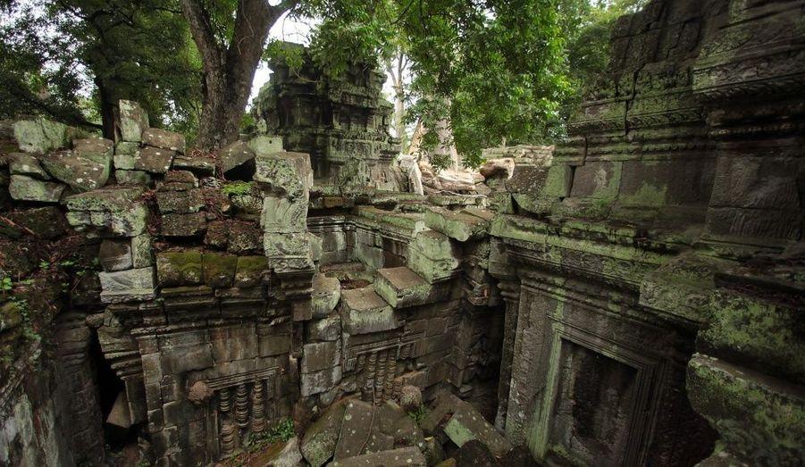 Le site archéologique d'Angkor (Cambodge) s'étend sur plus de 400 km2, essentiellement couverts par la forêt. Il possède plusieurs vestiges de l'Empire khmer comme le célèbre temple d'Angkor Vat et celui du temple du Bayon, orné de sculptures imposantes. Plusieurs scènes des films Tomb Raider et Deux frères ont été tournées dans ce bel environnement.