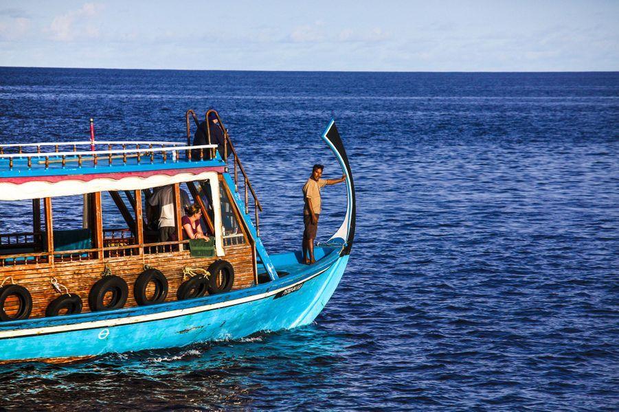 Bienvenue sur l'îlot Coco Island aux Maldives.