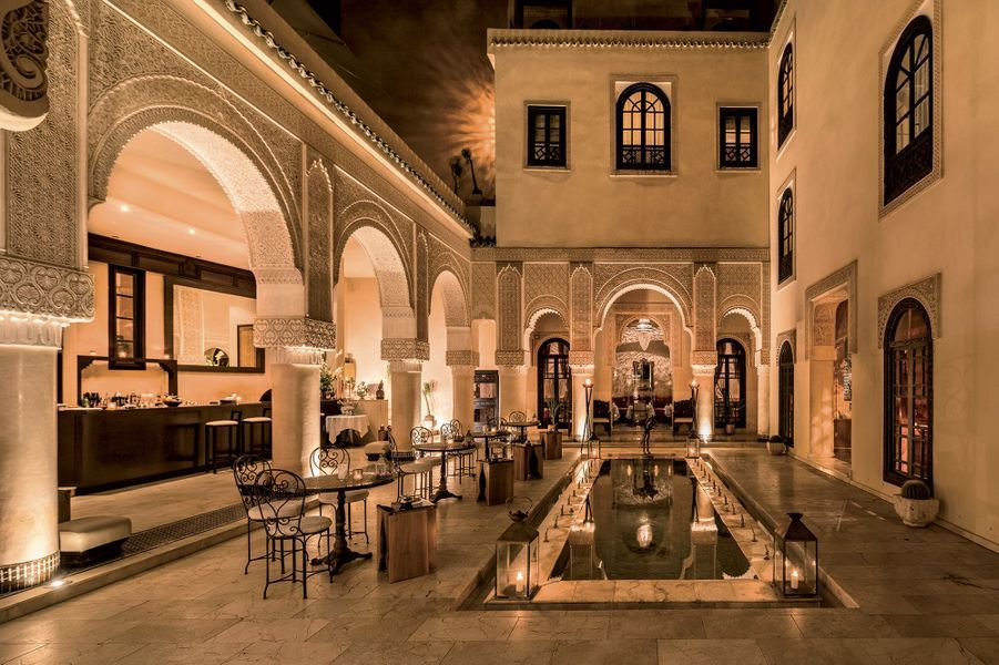 Dans l'hôtel Riad Fès.