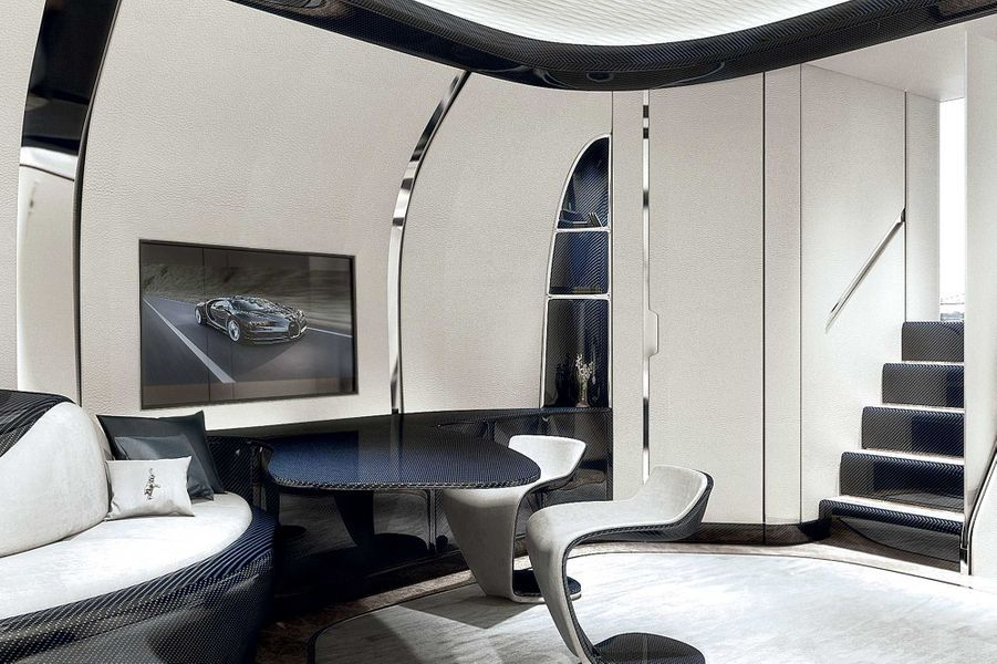 L'intérieur renferme une suite de luxe