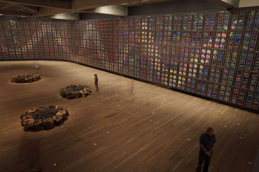 Collection permanente au Mona. Oeuvre : Mixed media on paper, 1620 sheets  Untitled 2002 Jannis Kounellis (Piraeus, Greece, 1936)