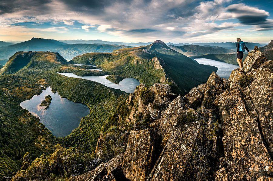 La Tasmanie vue du ciel.