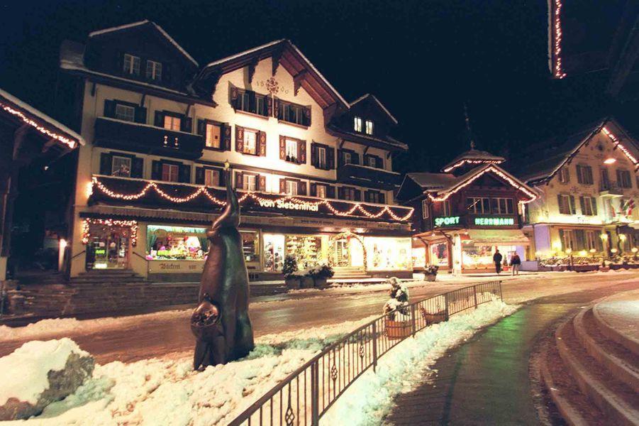 Les rues de Gstaad