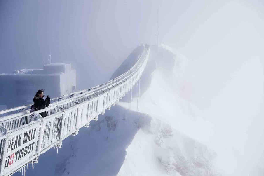 Un pont suspendu à Gstaad