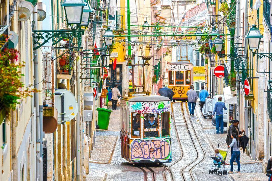 Le tramway de Lisbonne.