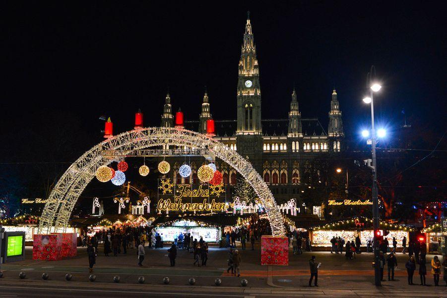 Vienne pendant Noël.
