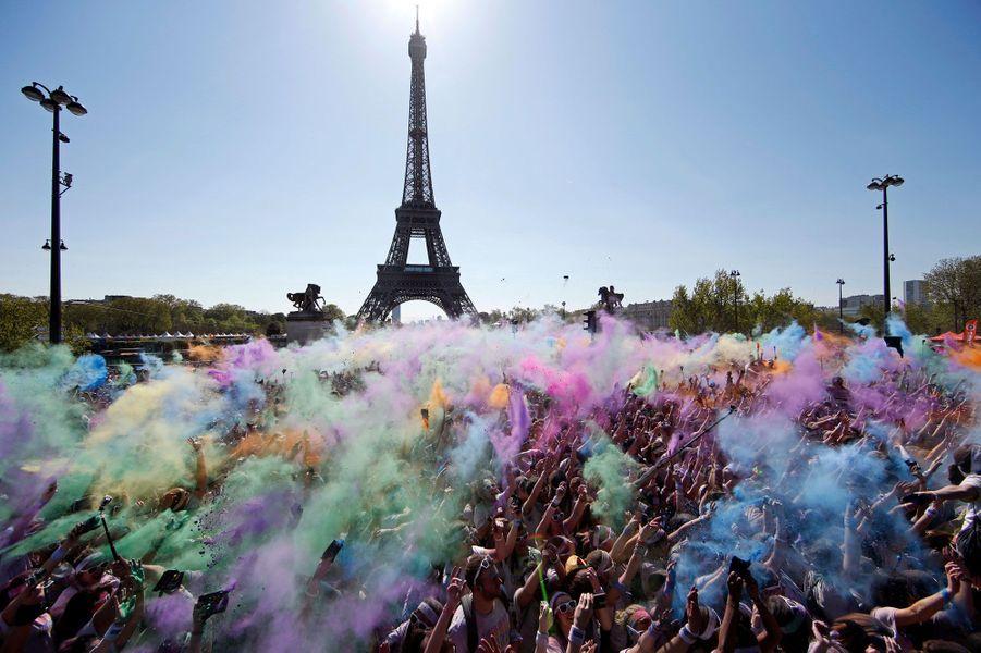 Le Trocadéro aux mille couleurs