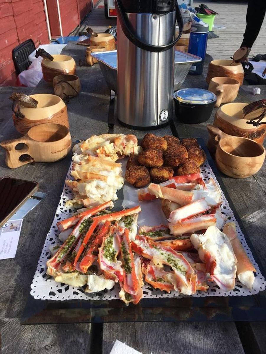 buffet de crabe