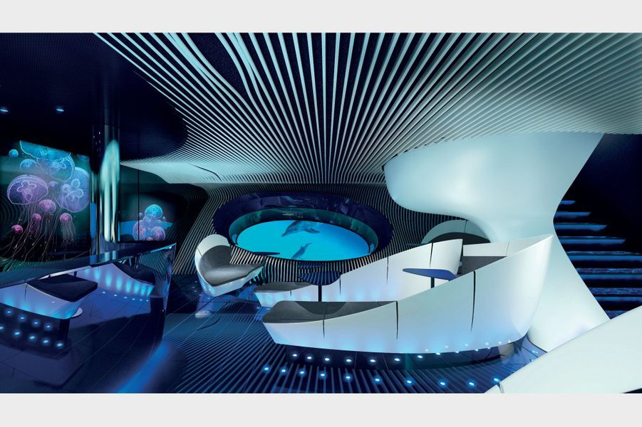 Ponant lance un navire à vision sous-marinedoté d'un espace sous-marin multi sensoriel, baptisé Blue Eye.