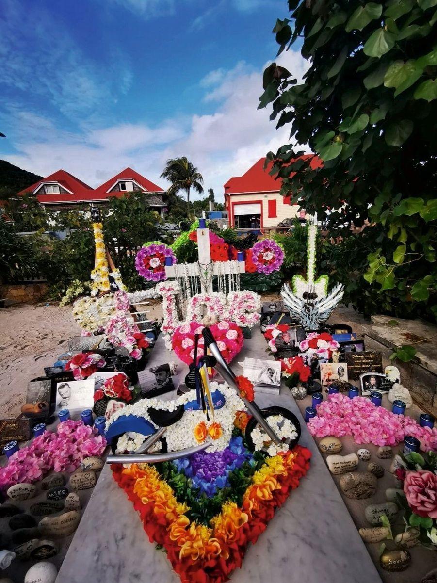 La nouvelle sépulture de Johnny Hallyday.