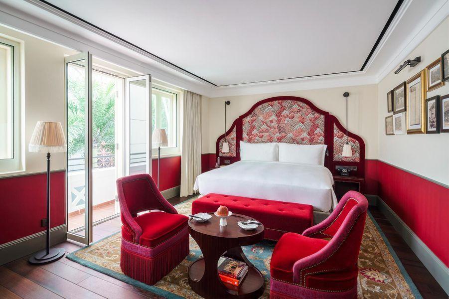 La chambre The Terrace, au Six Senses Maxwell.