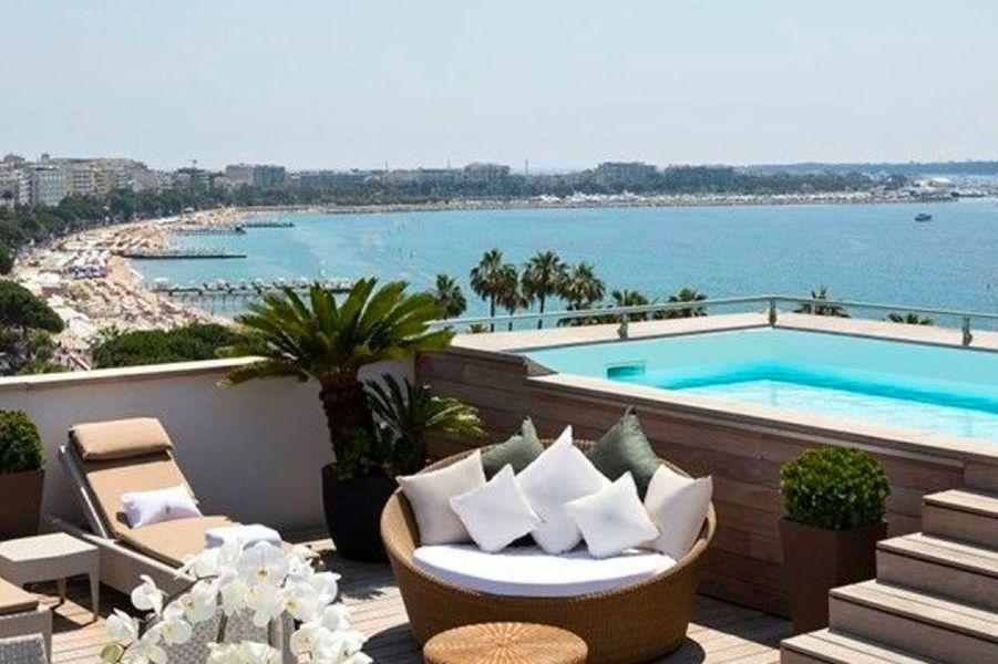 A l'hôtel Barrière Le Majestic Cannes.