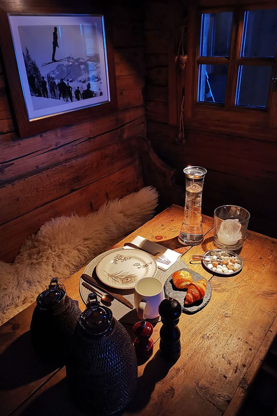 Visite guidée duChalet 1864 au Grand Bornand.