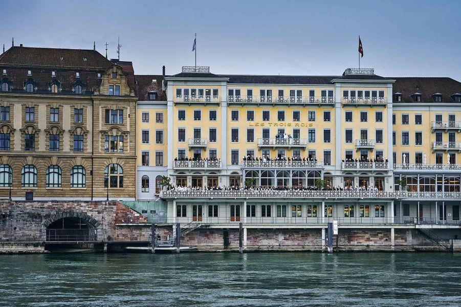 La façade du Grand Hotel Les Trois Rois