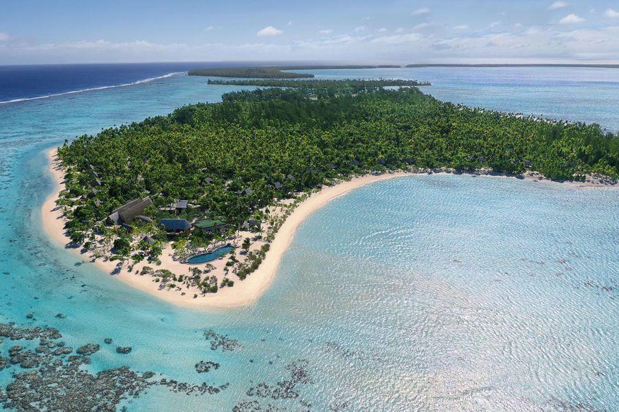 Le resort construit sur Onetahi, l'un des 12 motus (îlots) de Tetiaora