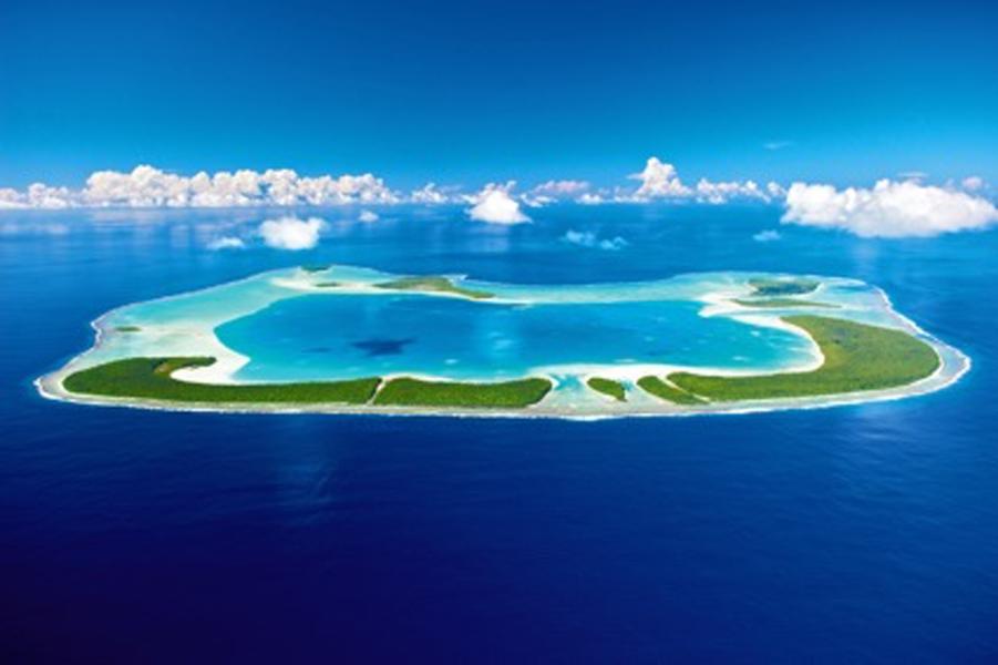 En Polynésie, l'atoll de Tetiaora.