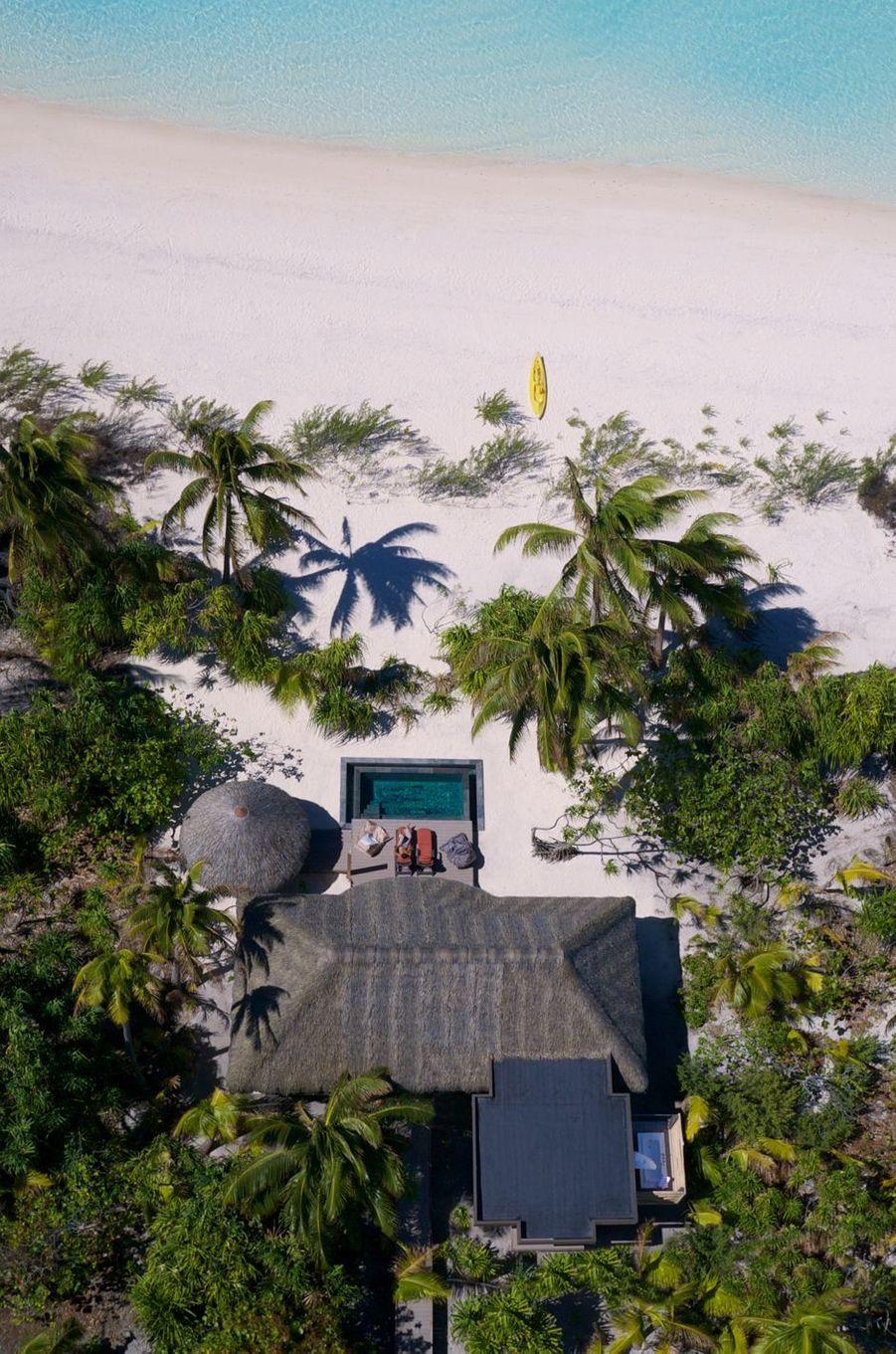 L'une des 35 villas avec piscine privée