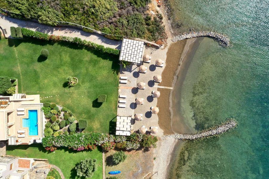 Le Private Beach Club del'Elounda Gulf Villas.