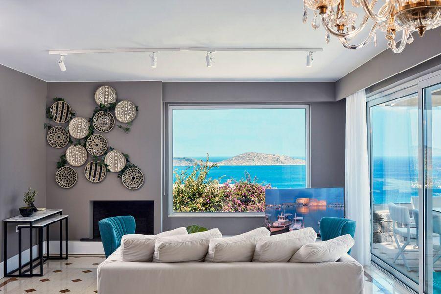 Décoration intérieure des villasdel'Elounda Gulf Villas.