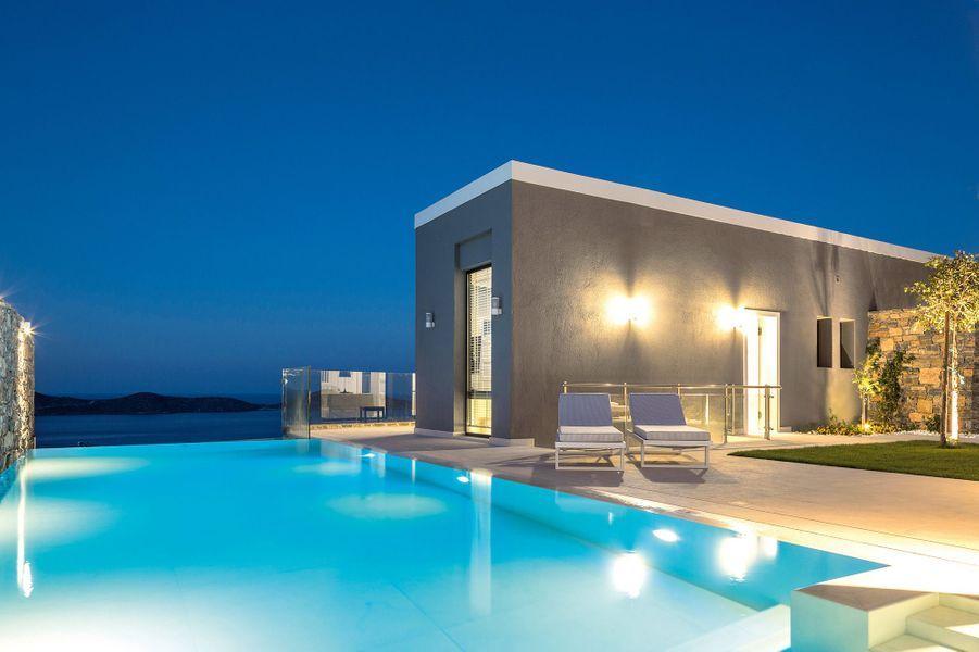 Toutes les villasdel'Elounda Gulf Villas ont une piscine. Chacune offrant une vue différente sur le golfe Mirabello.