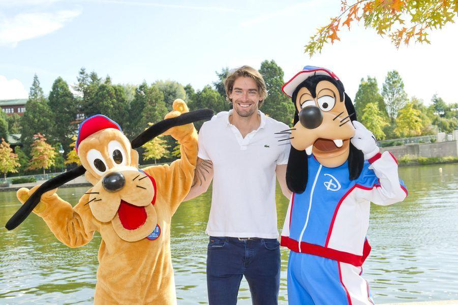 Camille Lacourt à Disneyland Paris, le 23 septembre 2017.