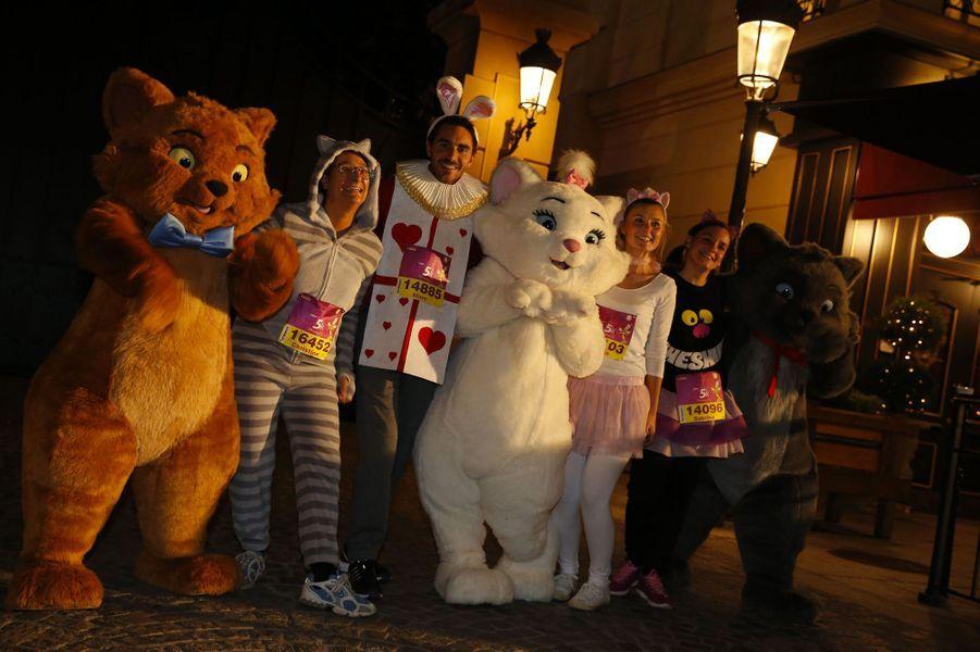 Durant la course du 5 kilomètres à Disneyland Paris, le 22 septembre 2017.