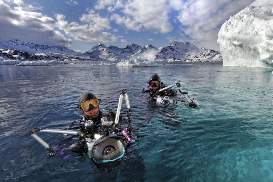 Le photographe Tobias Friedrich et le plongeur Sven Gust