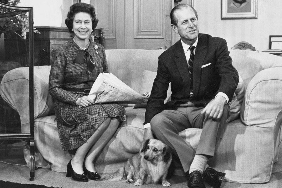Elizabeth avec Philip Mountbatten, le 20 novembre 1979