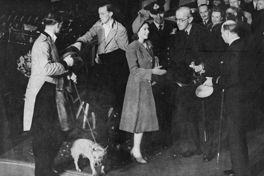 Elizabeth lors de son voyage de noces, en 1947
