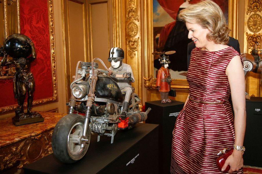 La reine Mathilde de Belgique à Bruxelles, le 17 juillet 2015