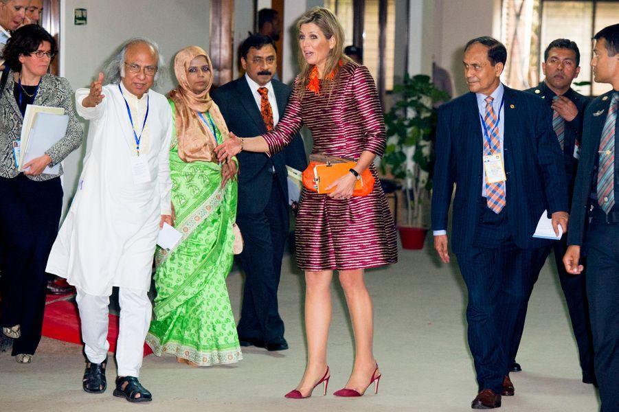La reine Maxima des Pays-Bas à Dacca au Bengladesh, le 16 novembre 2015