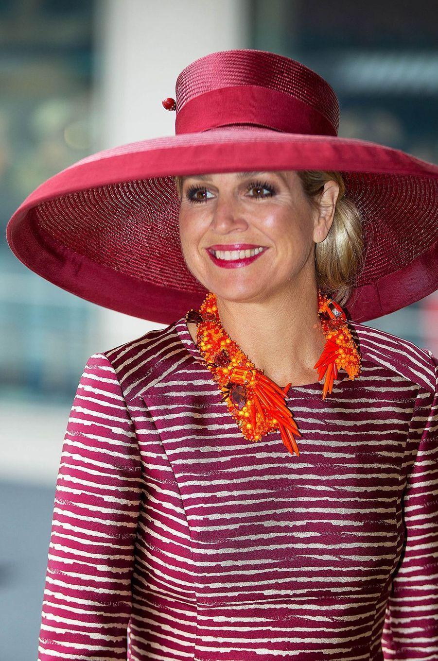 La reine Maxima des Pays-Bas à Rotterdam, le 19 juin 2015