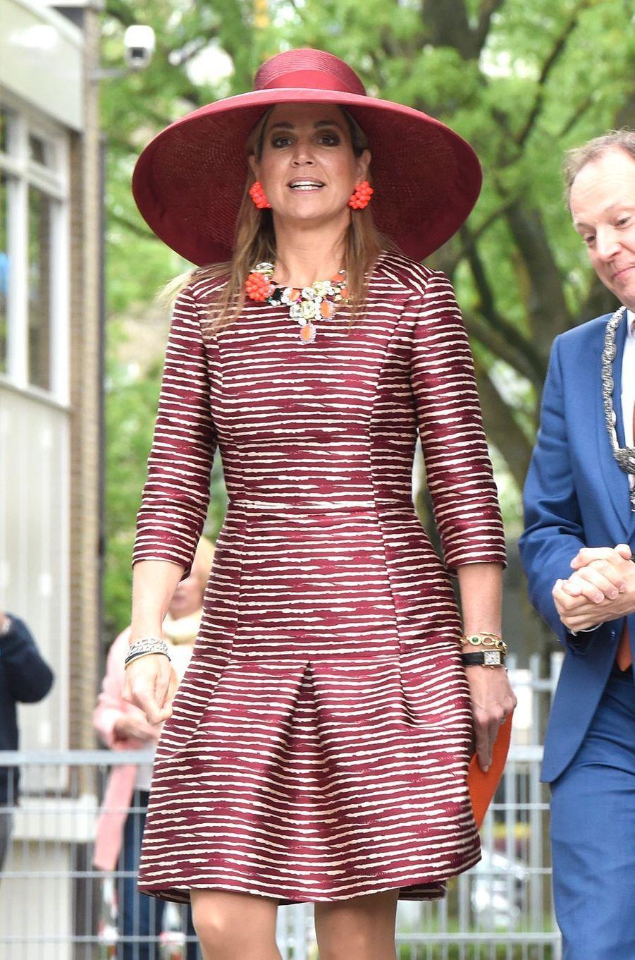La reine Maxima des Pays-Bas à Utrecht, le 19 mai 2016
