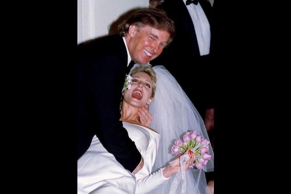 ... Trump Donald Trump à son mariage avec Marla Maples en décembre 1993