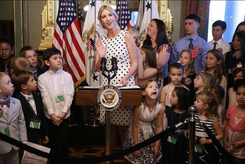 Ivanka Trump à la rencontre des enfants de soldats
