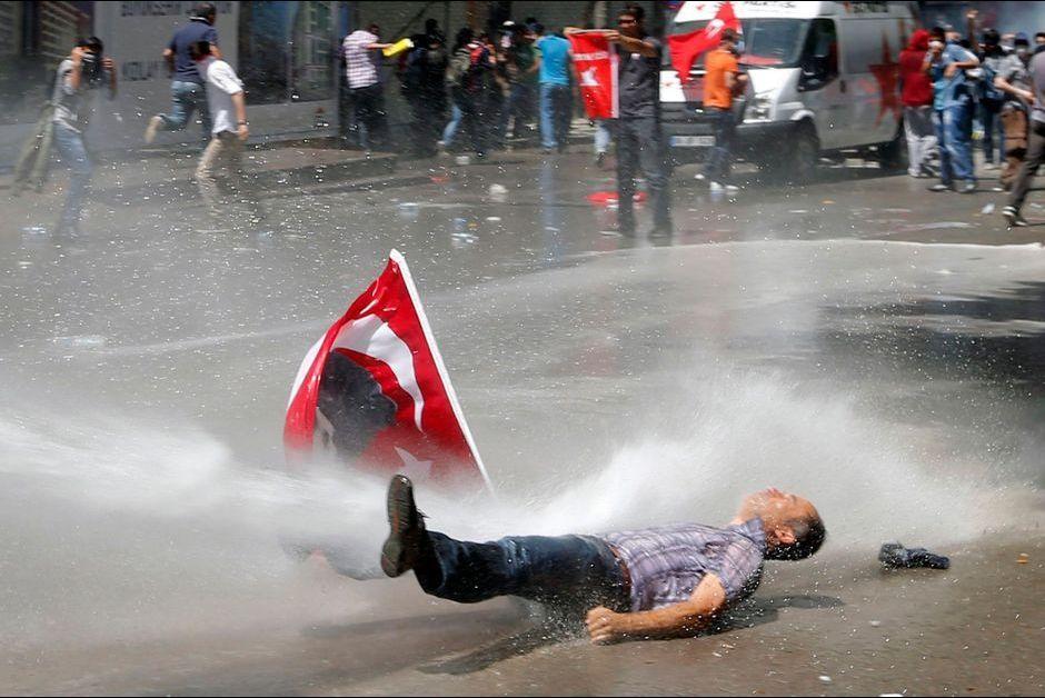 Samedi, dans le centre d'Ankara