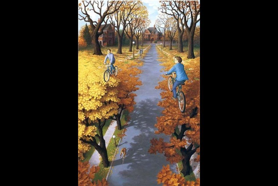 Rob Gonsalves - Vingt illusions d'optique a decrypter...